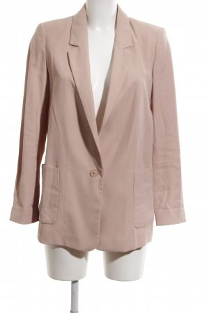 Zara Basic Long-Blazer pink Business-Look