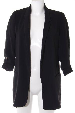 Zara Basic Long-Blazer schwarz Boyfriend-Look