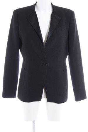 Zara Basic Long-Blazer schwarz Business-Look