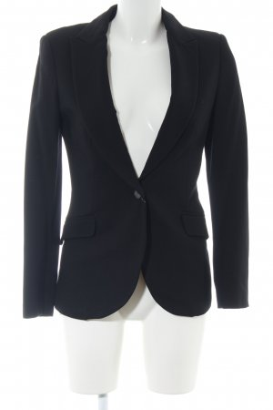 Zara Basic Long-Blazer schwarz Business-Look