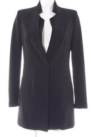 Zara Basic Long-Blazer schwarz Elegant