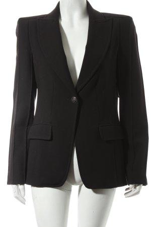 Zara Basic Long-Blazer schwarz extravaganter Stil