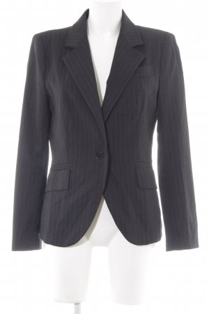 Zara Basic Long-Blazer schwarz Nadelstreifen Business-Look
