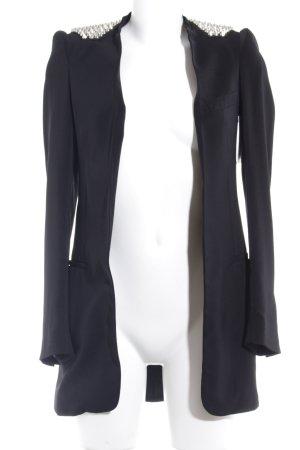 Zara Basic Long-Blazer schwarz Party-Look