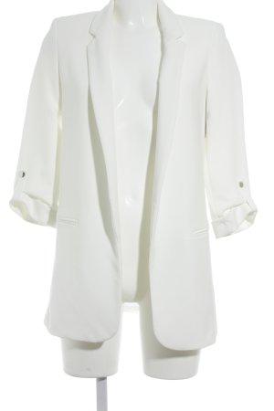 Zara Basic Long-Blazer wollweiß Business-Look