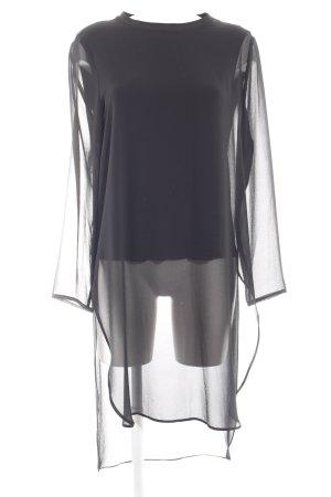Zara Basic Camicetta lunga nero stile casual