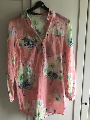 Zara Basic Long Blouse multicolored cotton