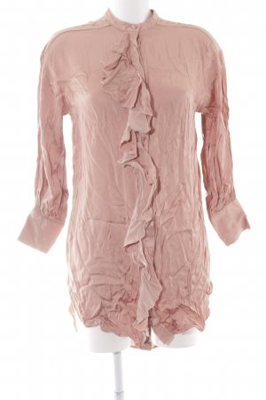 Zara Basic Long-Bluse nude extravaganter Stil