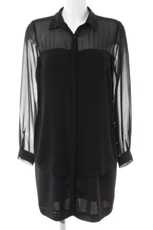Zara Basic Long-Bluse schwarz Elegant