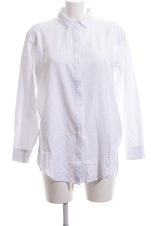 Zara Basic Long-Bluse weiß Business-Look