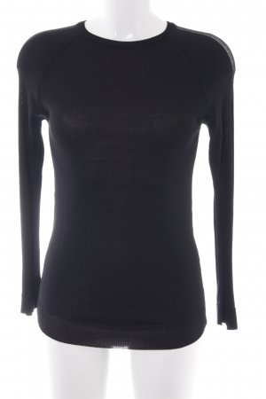 Zara Basic Longpullover schwarz Business-Look