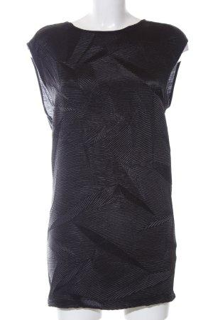 Zara Basic Longshirt schwarz abstraktes Muster Casual-Look
