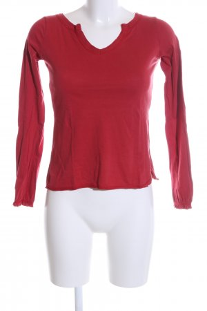 Zara Basic Longsleeve rot Casual-Look
