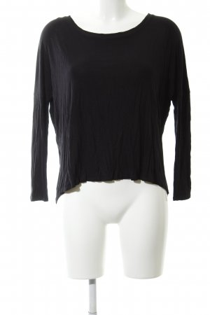 Zara Basic Longsleeve schwarz Business-Look