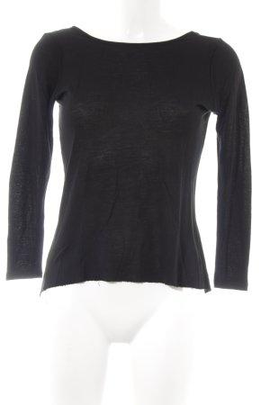 Zara Basic Longsleeve schwarz schlichter Stil