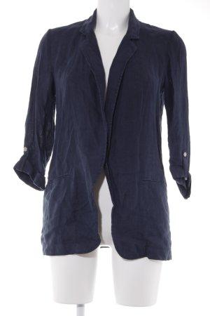 Zara Basic Longstrickweste dunkelblau-graublau Casual-Look