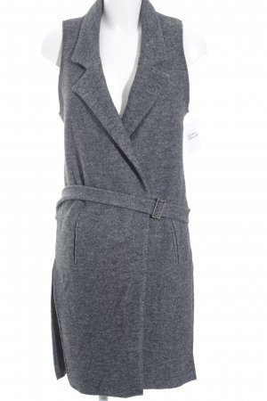 Zara Basic Long Knitted Vest dark grey-light grey flecked casual look