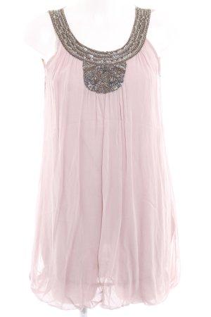 Zara Basic Lange top stoffig roze Stras-stenen versieringen