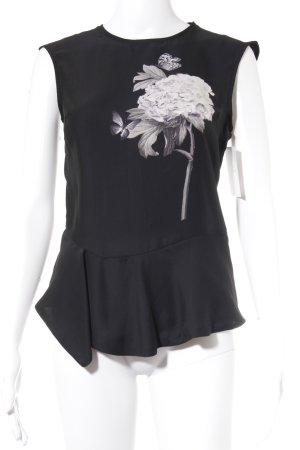 Zara Basic Top largo estampado en partes look Street-Style