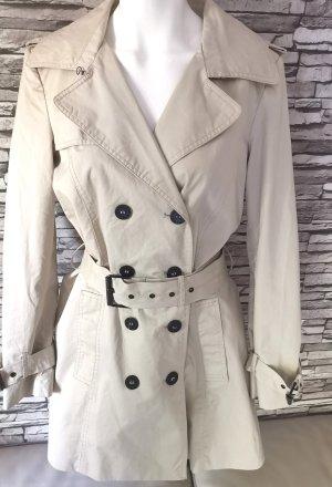 Zara Basic Mantel beige Creme Gr M 38