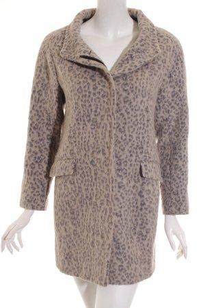 Zara Basic Mantel schwarz-beige Leomuster Urban-Look