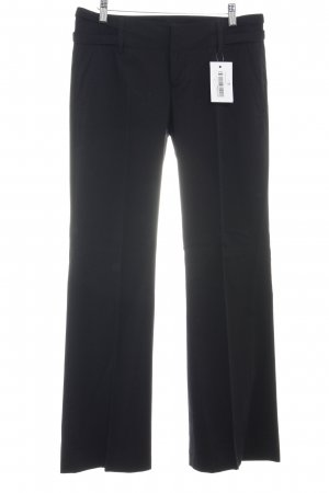 Zara Basic Anzughose schwarz Business-Look