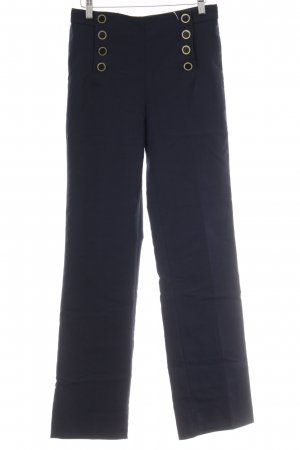 Zara Basic Marlene Trousers dark blue-gold-colored navy look