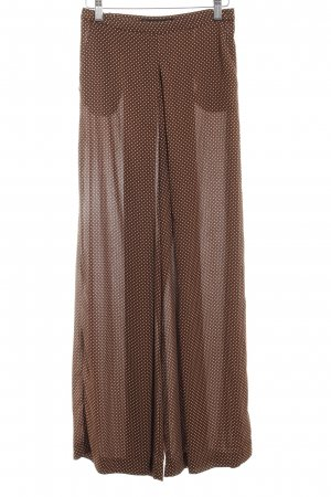 Zara Basic Marlene Trousers light brown-natural white spot pattern