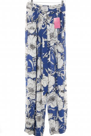 Zara Basic Marlene Trousers white-blue floral pattern party style