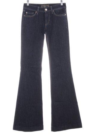 Zara Basic Jeans marlene blu scuro puntinato stile professionale