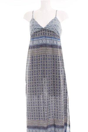 Zara Basic Maxikleid abstraktes Muster Boho-Look