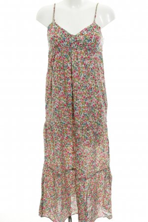 Zara Basic Maxikleid Blumenmuster Beach-Look