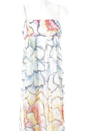 Zara Basic Maxi abito motivo floreale stile spiaggia