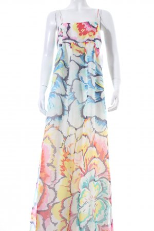 Zara Basic Maxikleid florales Muster Beach-Look