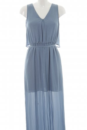 Zara Basic Maxikleid graublau Elegant