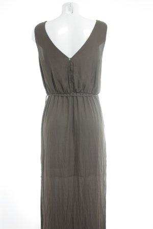Zara Basic Maxikleid khaki Casual-Look