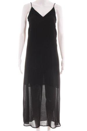 Zara Basic Maxikleid schwarz Elegant