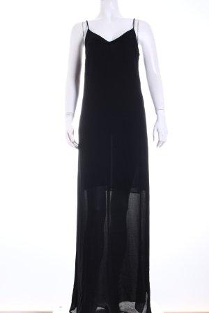 Zara Basic Maxikleid schwarz schlichter Stil
