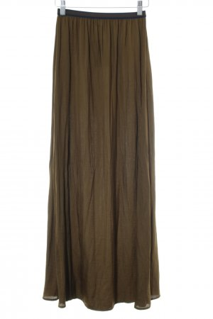 Zara Basic Maxi Skirt khaki casual look