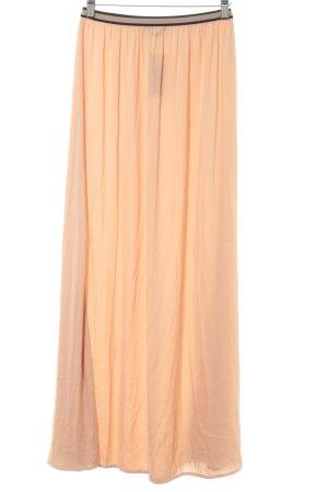 Zara Basic Maxirock apricot-dunkelblau Beach-Look