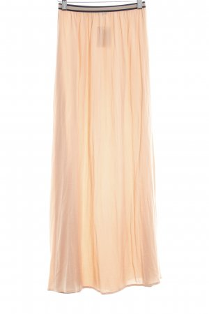 Zara Basic Maxi Skirt apricot romantic style