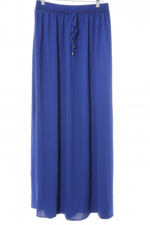 Zara Basic Maxi gonna blu Poliestere