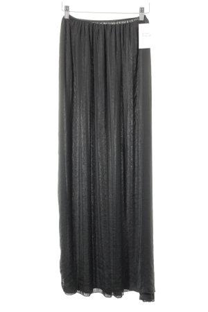 Zara Basic Maxi Skirt black casual look