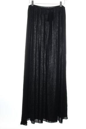 Zara Basic Maxirock schwarz schlichter Stil
