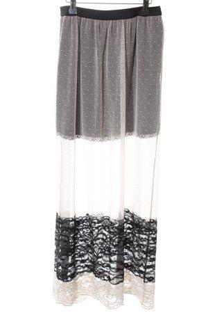Zara Basic Maxirock wollweiß-schwarz Elegant