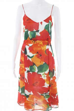 Zara Basic Midi Dress flower pattern romantic style