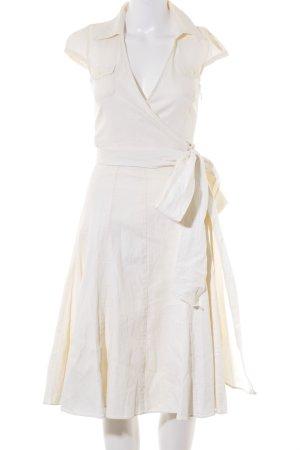Zara Basic Midikleid creme 50ies-Stil