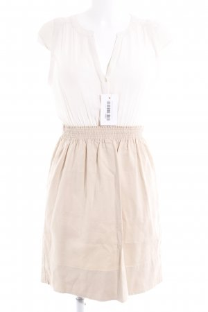 Zara Basic Midikleid creme-weiß Casual-Look