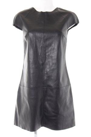 Zara Basic Midi-jurk zwart casual uitstraling