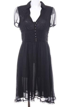 Zara Basic Midi Dress black spot pattern elegant